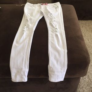 White  Skinny Ripped Jeans